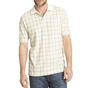 Arrow® Short-Sleeve Windowpane Piqué Polo