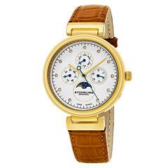 Stuhrling Womens Orange Strap Watch-Sp16303