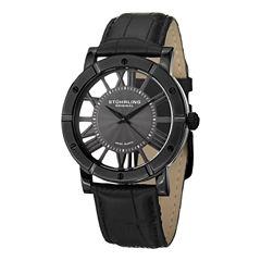 Stuhrling Mens Black Strap Watch-Sp14831