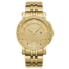 JBW Vault 18k Gold-Plated Stainless Steel 0.24 C.T.W Diamond Accent Mens Gold Tone Bracelet Watch-J6343a