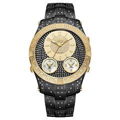 JBW Jet Setter III Black Ion-Plated Stainless Steel 1.50 C.T.W Diamond Accent Mens Black Bracelet Watch-J6348e