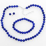 Vieste Rosa Womens 3-pc. Blue Brass Jewelry Set