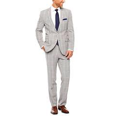 Nick Graham Black White Plaid 2-pc. Suit Sets-Slim