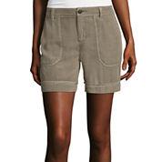 Liz Claiborne® Patch-Pocket Cargo Shorts - Tall