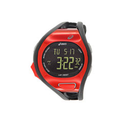 Asics Black/Red Ar07 Runner Unisex Multicolor Strap Watch-Cqar0711y