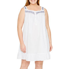 Adonna Sleeveless Nightgown-Plus