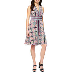 Maggy London Intl Sleeveless Fit & Flare Dress