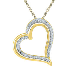 Womens 18 Inch 1/6 CT. T.W. White Diamond 10K Gold Link Necklace