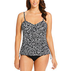 St. John's Bay Trapeze Bandeau Suki Swimsuit Top or Adjustable Side Brief