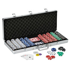 Fat Cat 500Ct Texas HoldftEm Dice Poker Chip Set