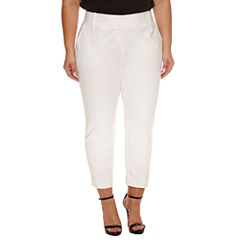 Worthington Curvy Slim Fit Ankle Pants-Plus