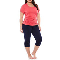 Spencer Maternity Nursing Top and Capris Set - Plus