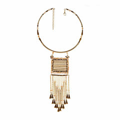 Jardin Womens Brass Choker Necklace