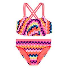 Angel Beach Girls Chevron Bikini Set - Big Kid