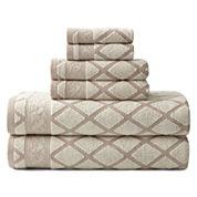 Royal Velvet® Diamond Jacquard 6-pc. Towel Set
