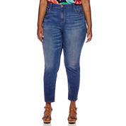 Liz Claiborne® Classic-Fit Skinny Ankle Jeans - Plus