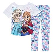 Disney Collection 2-Pc. Frozen Cap-Sleeve Pajama Set