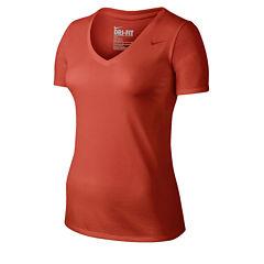 Nike® Solid V-Neck T-Shirt