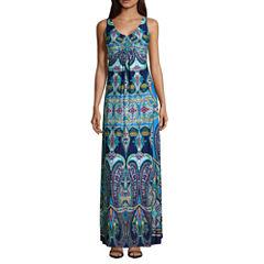Ronni Nicole Sleeveless Embellished Maxi Dress-Petites