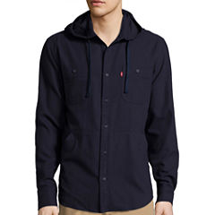 Levi's® Long-Sleeve Hooded Woven Shirt