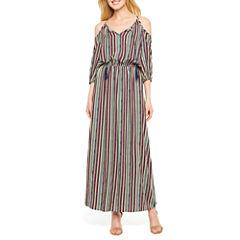 a.n.a Short Sleeve Maxi Dress