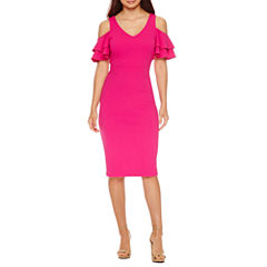 Nicole By Nicole Miller 3/4 Sleeve Bodycon Dress