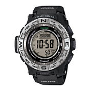 Casio® Pro Trek Triple Sensor Mens Black Resin Solar Sport Watch PRW3500-1CR