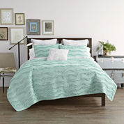JCPenney Home™ Cotton Classics Ruffle Quilt & Accessories