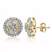1/2 CT. T.W. Diamond 10K Yellow Gold Cluster Earrings