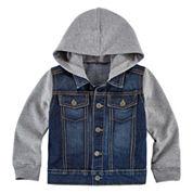 Arizona Long-Sleeve Denim Hoodie - Toddler Boys 2t-5t