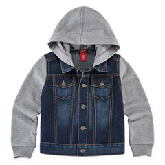 Arizona Denim Button-Front Hoodie - Preschool Boys 4-7