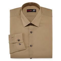 JF J. Ferrar® Easy-Care Solid Dress Shirt - Slim Fit