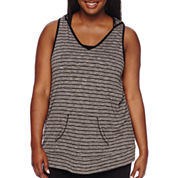 City Streets® Sleeveless Hoodie - Juniors Plus