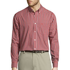 Dockers® Signature Long-Sleeve Mini-Check Woven Shirt