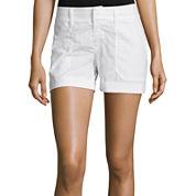 a.n.a® Mid-Rise Utility Poplin Shorts