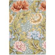 Nourison® Antiqued Garden Floral Hand-Hooked Rectangular Rug