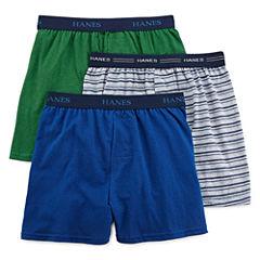 Hanes® Ultimate 3-pk. ComfortFlex® Knit Boxers - Boys 6-20