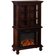 Jefferson Electric Fireplace Curio Cabinet