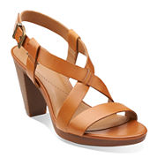 Clarks® Jaelyn Fog Leather Sandals