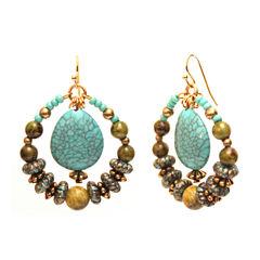 Aris by Treska Beaded Hoop Earrings