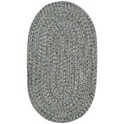 Capel Sea Pottery Indoor/Outdoor Reversible Braided Oval Rug
