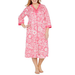 By Miss Elaine 3/4 Sleeve Robe-Plus