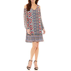 Nicole By Nicole Miller Long Sleeve Sheath Dress