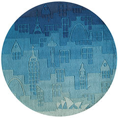 Momeni Lil Mo Urban Landscape Rug Hand Tufted Round Rugs