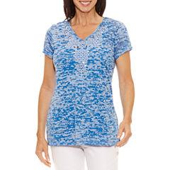Lark Lane Short Sleeve V Neck T-Shirt