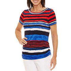 Lark Lane Short Sleeve Boat Neck T-Shirt