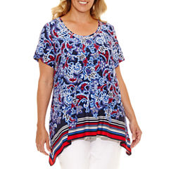 Lark Lane Summer Spirit Tunic Top Plus