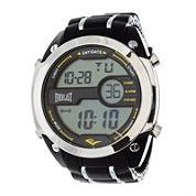 Everlast® Mens Black Silicone Strap Watch