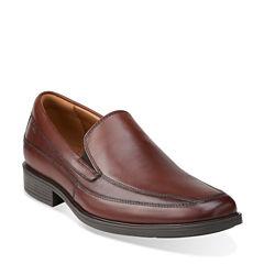 Clarks® Tilden Free Mens Leather Slip-On Dress Shoes