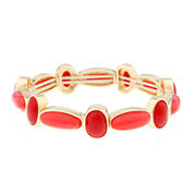 Liz Claiborne® Orange and Gold-Tone Stretch Bracelet